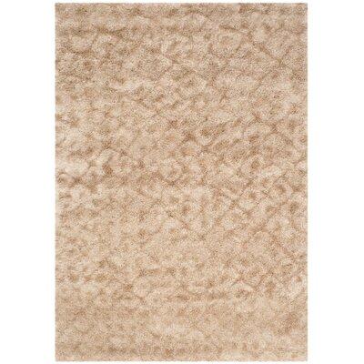 Maimouna Light Brown Area Rug Rug Size: 53 x 76
