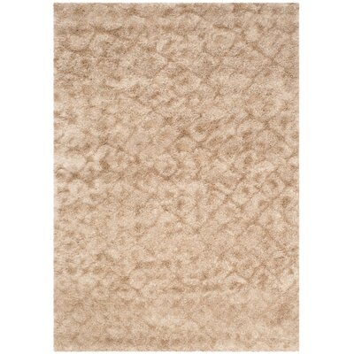 Maimouna Light Brown Area Rug Rug Size: 67 x 96