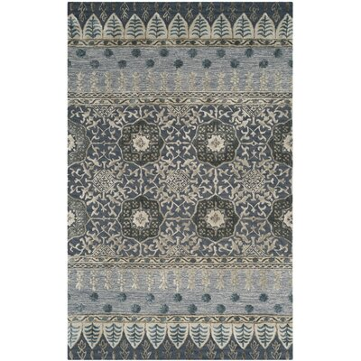 Lucia Hand-Tufted Denim Area Rug Rug Size: 4 x 6