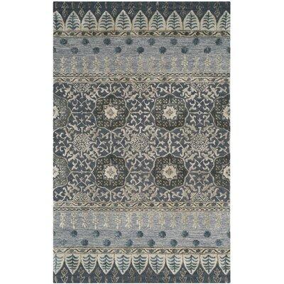 Makah Hand-Tufted Denim Area Rug Rug Size: 5 x 8