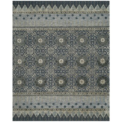 Lucia Hand-Tufted Denim Area Rug Rug Size: 8 x 10