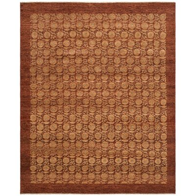 Malak Hand-Knotted Red Area Rug Rug Size: Rectangle 9 x 12