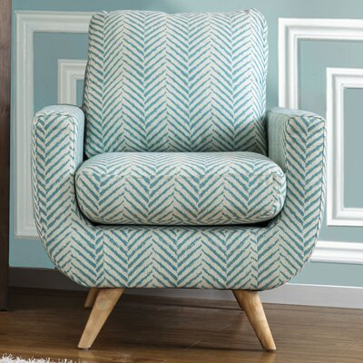 Cooke Fabric Armchair Color: Blue