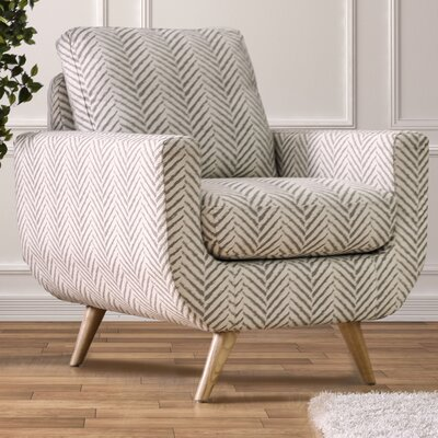 Cooke Fabric Armchair Color: Gray