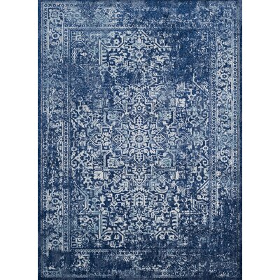 Elson Navy Area Rug Rug Size: Rectangle 51 x 76