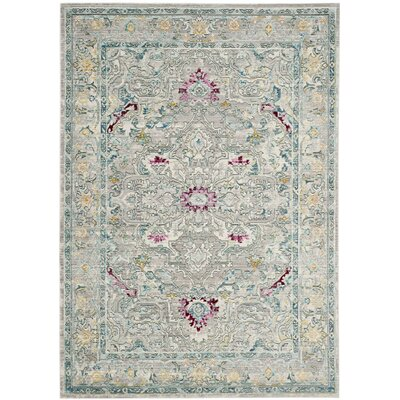 Lulu Tibetan Gray/Multi Area Rug Rug Size: Rectangle 5 x 8