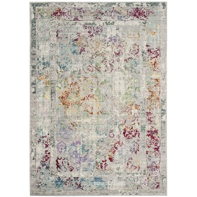 Lulu Rectangle Gray/Multi Area Rug Rug Size: Rectangle 3 x 5