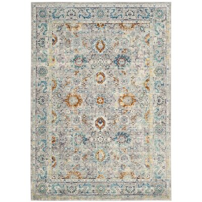 Lulu Gray/Multi Area Rug Rug Size: Rectangle 6 x 9