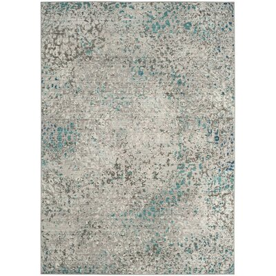 Lulu Gray/Light Blue Area Rug Rug Size: Rectangle 8 x 10