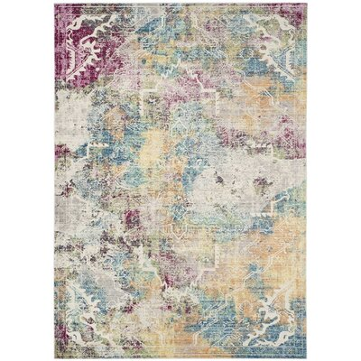 Lulu Multi-color Area Rug Rug Size: Rectangle 4 x 6