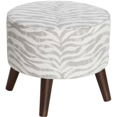 Maryam Round Ottoman with Splayed Legs