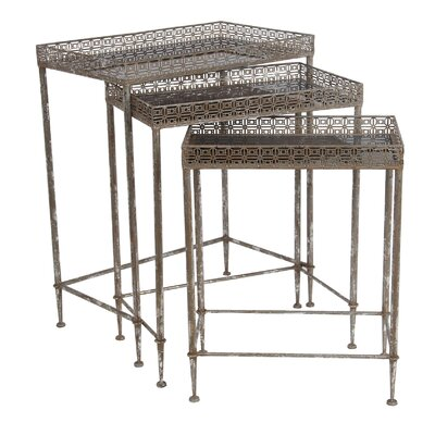 Medved 3 Piece Iron Nesting Tables