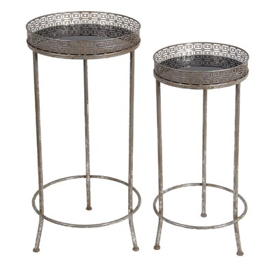 Meenakshi 2 Piece End Table Set