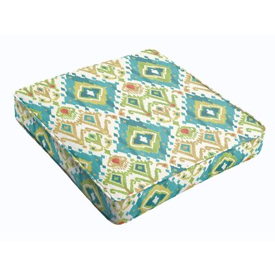 Outdoor Dining Chair Cushion Fabric: Blue Green