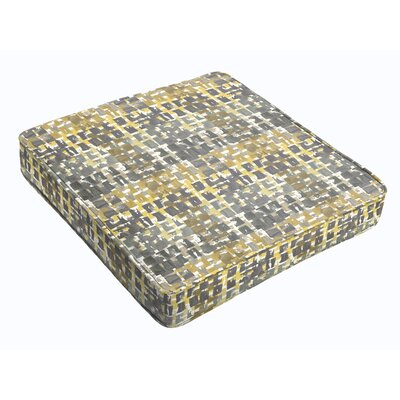 Outdoor Dining Chair Cushion Fabric: Gold