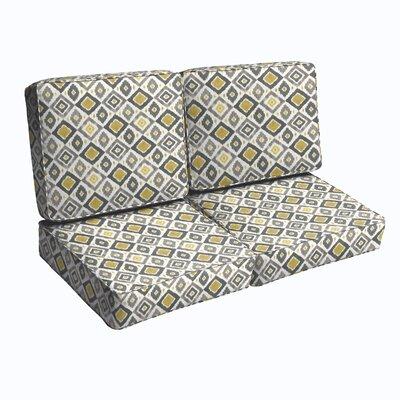 4 Piece Indoor/Outdoor Loveseat Cushion Set BNGL5918 32437256