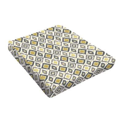 Outdoor Dining Chair Cushion Fabric: Grey / Gold
