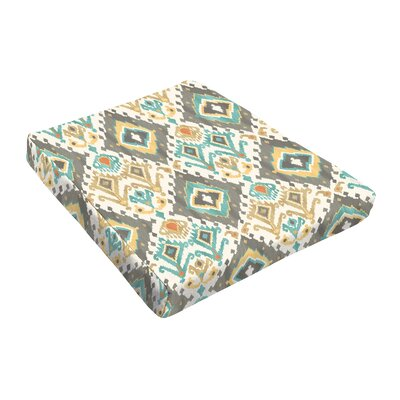 Outdoor Dining Chair Cushion Fabric: Grey / Green