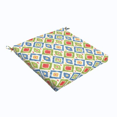 Sligh Outdoor Dining Chair Cushion Size: 19 L x 19 W, Fabric: Multicolor