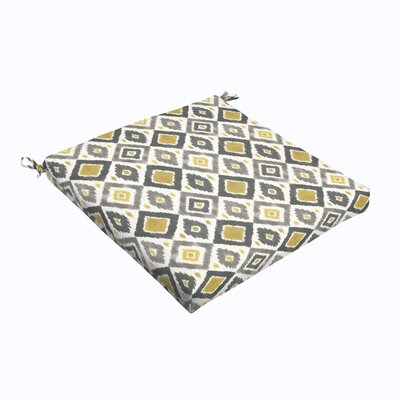 Sligh Outdoor Dining Chair Cushion Fabric: Gray / Gold, Size: 20 L x 20 W