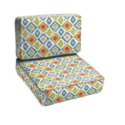 Sligh 2 Piece Outdoor Loveseat Cushion Set