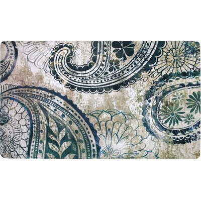 Mireya Trendy Paisley Kitchen Mat