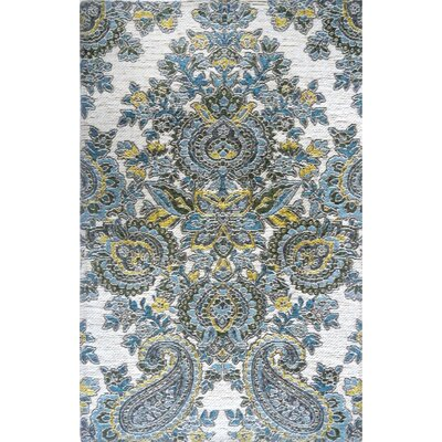 Misael Blue Area Rug Rug Size: 21 x 37