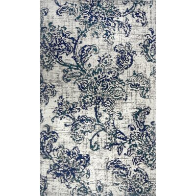 Misael Indigo/Ivory Area Rug Rug Size: Rectangle 2'1