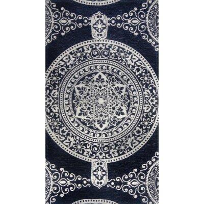 Misael Black/Ivory Area Rug Rug Size: 21 x 37