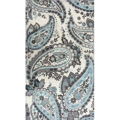 Misael Ivory/Blue Area Rug Rug Size: 210 x 47