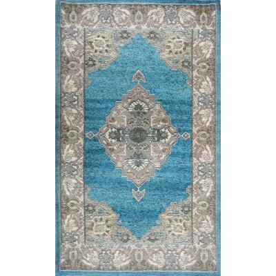 Misael Blue/Gray Area Rug Rug Size: 21 x 37