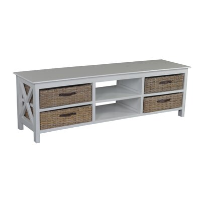 Mishka 59 TV Stand Color: White
