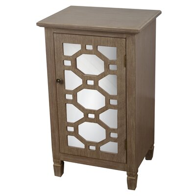 Oram Mirrored Door Accent Cabinet Finish: Winter Wood