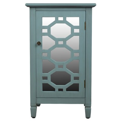 Oram Mirrored Door Accent Cabinet Finish: Antique Iced Blue