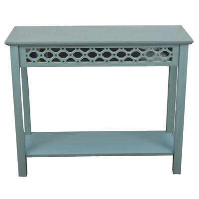 Oram Console Table with Mirror Finish: Antique Iced Blue