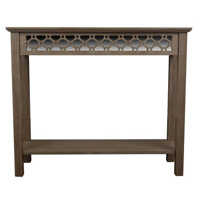Oram Console Table with Mirror Finish: Winter Wood