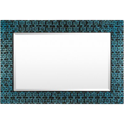 Rectangle Blue Wall Mirror