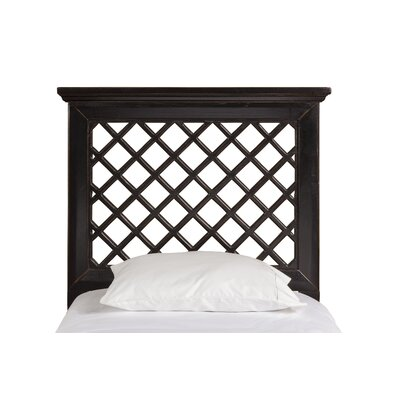 Dorian Wood Panel Headboard Size: Full / Queen, Upholstery: Rubbed Black