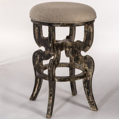 Nawel 24 Bar Stool Upholstery: Blackwash