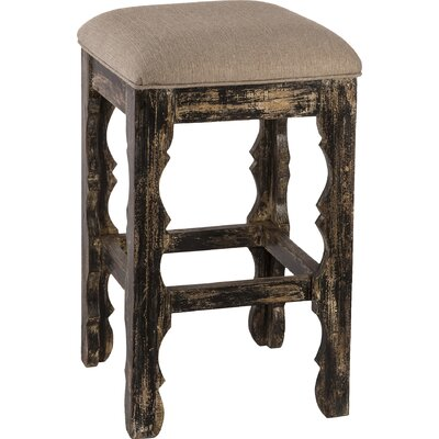 Muhammed 24 Bar Stool Finish: Blackwash