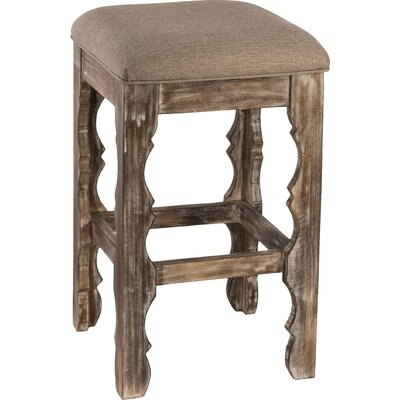 Muhammed 24 Bar Stool Finish: Whitewash