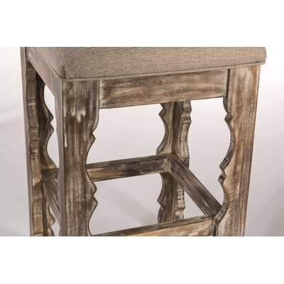 Muhammed 30 Bar Stool Finish: Whitewash