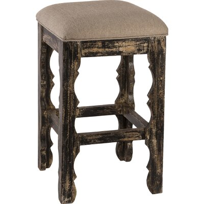 Muhammed 30 Bar Stool Finish: Blackwash