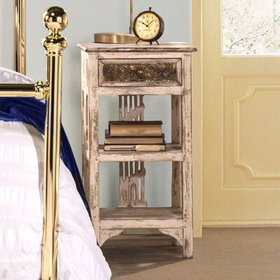 Motyka End Table Color: Distressed White