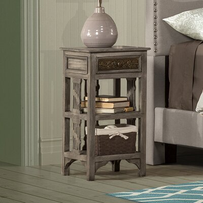 Motyka End Table Finish: Distressed Grey Wash