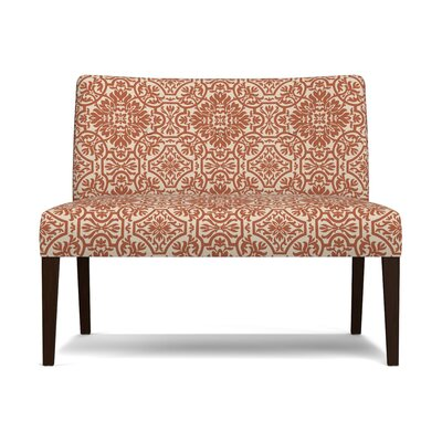Marcelo Settee Upholstery: Orange