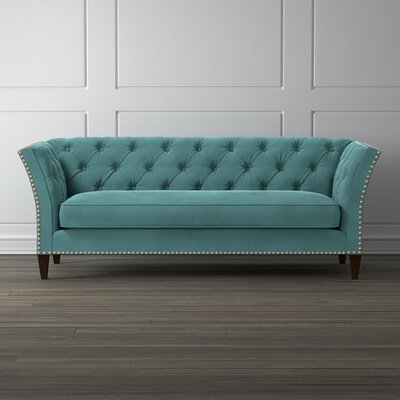 Gilmore Chesterfield Sofa Upholstery color: Turquoise Blue