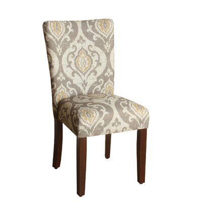 Neena Upholstered Dining Chair Upholstery Color: Beige/Gray
