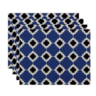 Nikhil Geometric Print Placemat Color: Blue