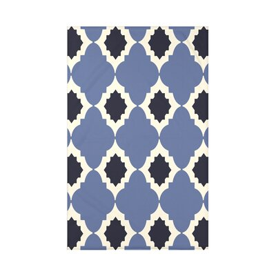 Nikhil Geometric Print Throw Blanket Size: 50 H x 60 W x 0.5 D, Color: Navy Blue